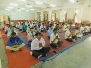 International Yoga day celebration in College